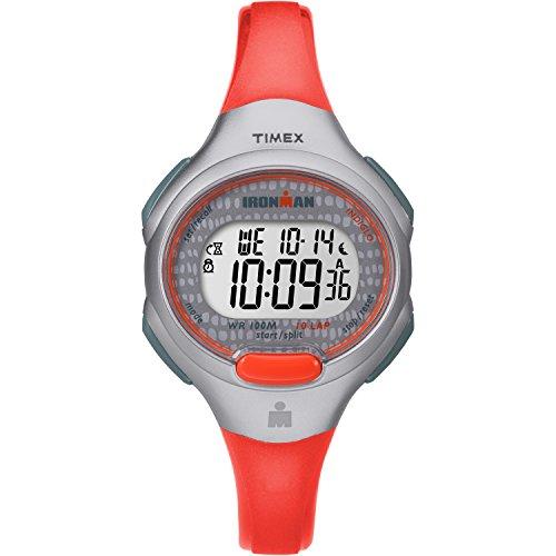 Timex Women's TW5M10200 Ironman Essential 10 Orange/Gray Resin Strap Watch (Männer Timex Chronograph Watch)