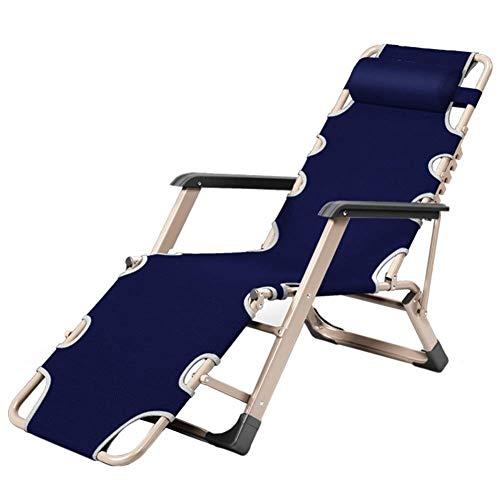 DQCHAIR Komfortable Outdoor Reclining Schwerelosigkeit Stuhl Extra breite verstellbare Liege Stuhl für Patio Garden Beach Pool, Unterstützung 200kg (Color : Blue) - Fach Osmanischen