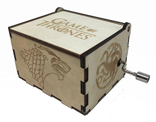 ASVP Shop Game of Thrones Spieluhr Holz benutzerdefinierte Gravur Geschenk Holz Spieluhr