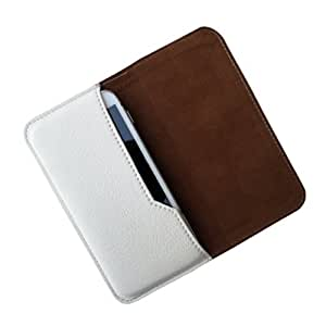 i-KitPit : PU Leather Flip Pouch Case Cover For Lava 450 Colour+ (WHITE)
