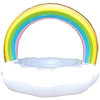 XinHome - Anillo Hinchable para Piscina Gigante con Bomba de natación y Flotador para Adultos y niños, Small with Pump