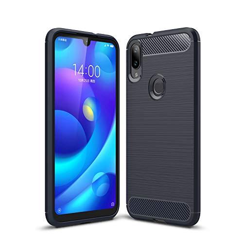 AOBOK Xiaomi Mi Play-Hülle, Xiaomi Mi Play-Hülle, Dunkelblaue ultradünne TPU-Federn Silikonhülle Anti Shock Protection für Xiaomi Mi Play Smartphone