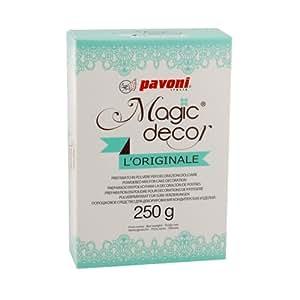 Pavoni Italia Magic decor Préparation en poudre pour décorations de pâtisserie 250 g