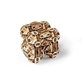 Ugears Flexi-Cubus – Gioco Meccanico Cubo Flexi da Costruire – Puzzle 3D in Legno Anti-Stress per Bambini e Adulti – Migliora l'attenzione e la Concentrazione – 144 Pezzi – Ottima Idea Regalo