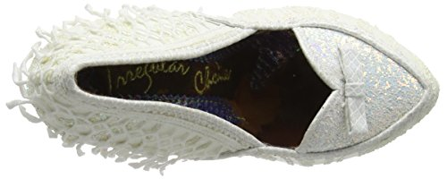 Irregular Choice Odette Scarpe con Tacco da Donna Bianco (White)