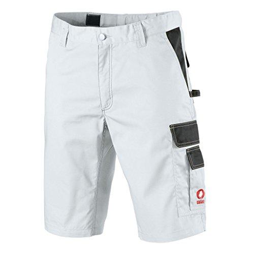 Preisvergleich Produktbild Krähe kurze Arbeitshose Profession Pro Herren – angenehm & strapazierfähig, Sommer geeignet, 8 Taschen, leichter Stoff in weiß Größe 52