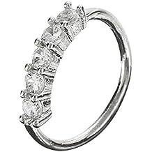 Piercing Nariz Aro Cristal Diamante de Imitación
