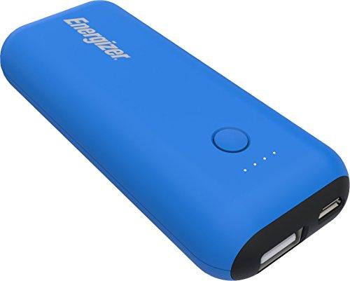 Energizer Max 5000mAh Externer Akku, kompakte Powerbank, Handy Ladegerät [2.1A Output] für iPhone Xs/Xs Max/XR/X/8/7, iPad, Samsung Galaxy S9/S8 und Viele Mehr (Blau/Schwarz) [2.1A Output]