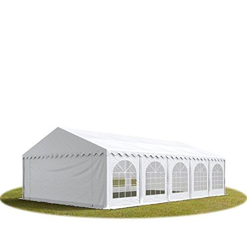 TOOLPORT Tente Barnum de Réception 5x10 m ignifugee Premium Bâches Amovibles PVC 500 g/m² Blanc Cadre de Sol Jardin INTENT24