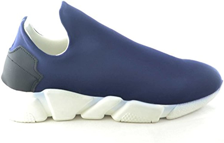 Scarpe Uomo calzino Lycra Blu Blu Blu Fondo Bianco antistatica e Antiscivolo Made in  Moda Comfort   Esecuzione squisita  2506b8