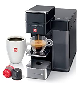Francis Francis by illy Y5 DUO iperespresso & filter capsule coffee maker, Black