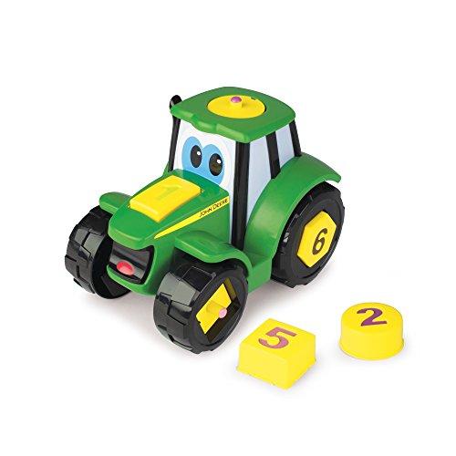 TOMY John Deere - Johnny Traktor Lern & Spaß - Kinder Traktor zum Zahlen lernen / Hochwertiger Traktor für Kinder ab 3 Jahre zum Spielen und Sammeln