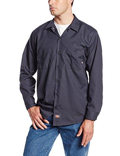 Dickies - LL535 - Industrie-Langarm Shirt Work, Medium, Charcoal