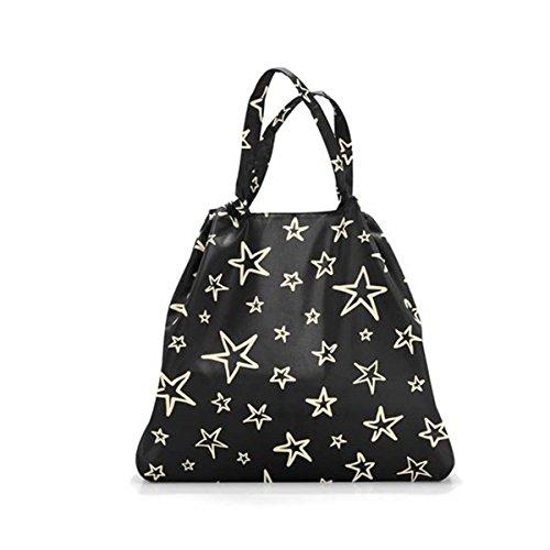 Reisenthel Mini Maxi Loftbag Stars, Polyester, Schwarz, 64 x 13 cm