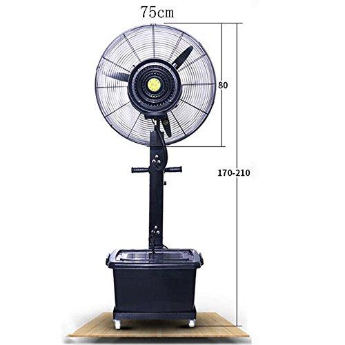 Ventiladores ZR pulverización Cool Atomization Electric Fan Humidificador de eliminación de Polvo...