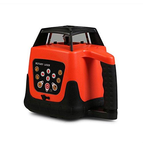 Autocompra Nivel láser Rotativo Autonivelante Nivel Láser Automático Laser Level Rayo Rojo con Impermeable Construcción (Rayo Rojo)