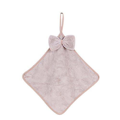 Yimosecoxiang Anti-Rutsch-Handtuch im koreanischen Stil, weich, zum Aufhängen, wasserabsorbierend, für Küche und Badezimmer, Hellrosa khaki