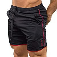 Lilon Heren Gym Fitness Shorts, training Running Sport Workout Casual joggingbroek Trekkoord Grote bodybuilding jogger met zakken