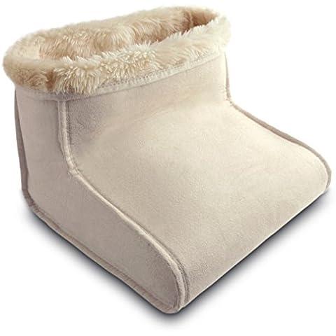 Daga BM - Bota multiuso, 100 W, 4 temperaturas, acabado exterior de piel vuelta, incluye almohadilla plástica, color crema
