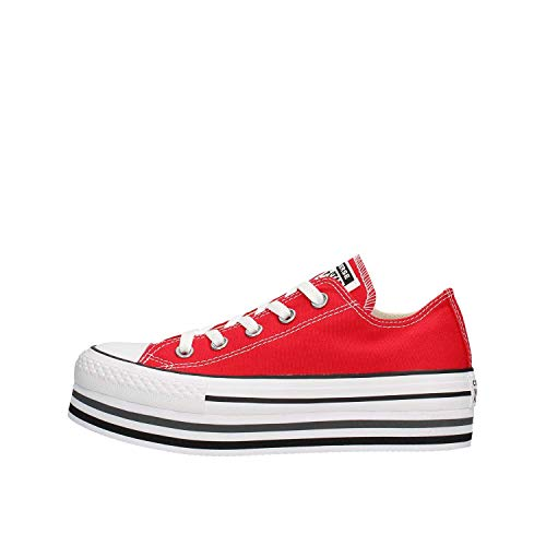 CTAS Platform Layer Zapatos Deportivos Femme Rojo 563972C