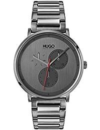 HUGO Reloj Multiesfera para Hombre de Cuarzo con Correa en Acero Inoxidable 1530012