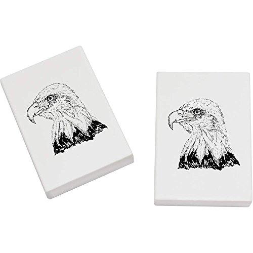 Azeeda 2 x 45mm 'Weißkopfseeadler' Radiergummis (ER00009636) (2 Weißkopfseeadler)