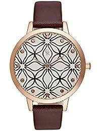 Reloj mujer Charlotte rafaelli de cuarzo reloj Imprimé 36 mm y pulsera marrón en PU crg014
