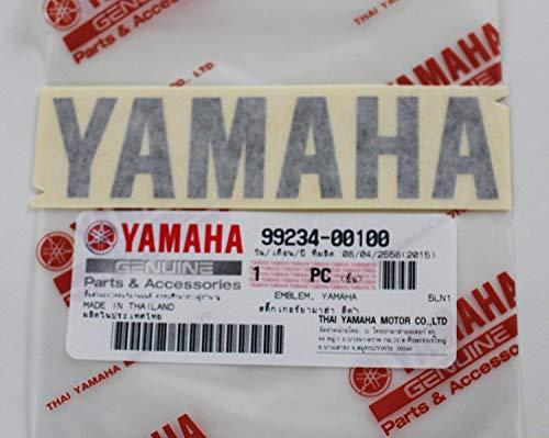 Ganz Neue 100% Original Yamaha Aufkleber Emblem Logo 100mm X 23mm Schwarz Selbstklebend Motorrad Jet Ski /Atv / Schneemobil -