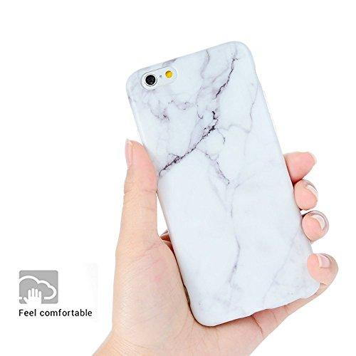 KASOS Marmo Cover iPhone 6s, Morbido Custodia iPhone 6 Silicone Gel Ultra Sottile Premium TPU Flessibile Case IMD Tecnologia di Disegno Marble, Nero