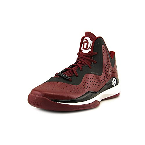 adidas D Rose 773 III Mens Basketball Shoe 10 Black-Scarlet Maroon-Black-White