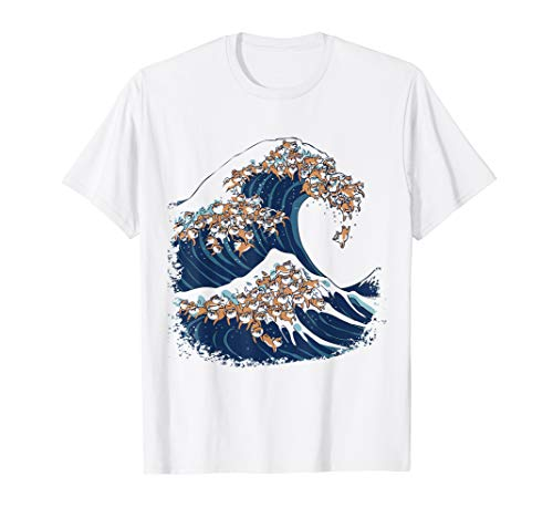 The Great Wave of Shiba Inu Funny T-Shirt