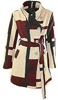 #4140 Damen Designer Mantel Winter Jacke Wolle Schwarz/Grau Beige/Rot 36 38 40 42
