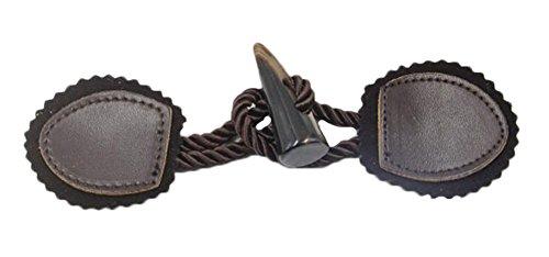 Handgefertigte DIY Handwerk Set von 2 Duffle Leder Toggle Buttons -