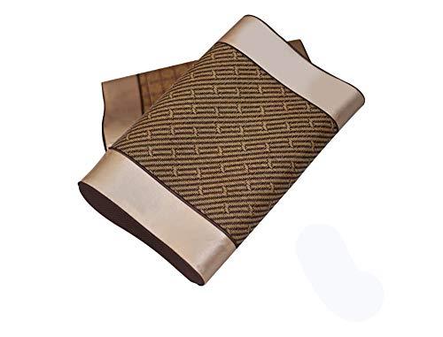 Bambuskohlekern Kissen Langsam Rebound Memory Cotton Bed Memory Kissen Schutz Nackenkissen Gesundheit Kissen Doktor-Design für Hals Rückenschmerzen,Twill (Twill Kissen)