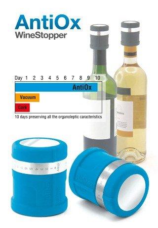 Antiox, Weinflaschenverschluss blau?Pulltex