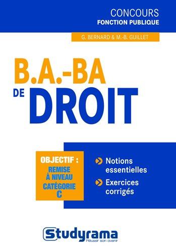 B.A.-BA de droit