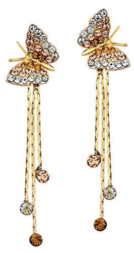 Youbella Gold Plated Butterfly Dangler Earrings For And Women