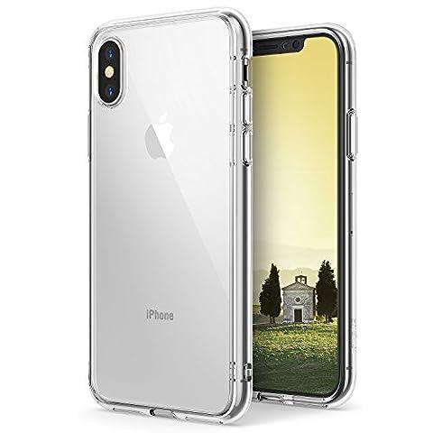 Coque iPhone X, Ringke [FUSION] Bumper en TPU avec Dos Crystal transparent [Protection contre les chutes / Technologie d'absorption des chocs] Étui de protection pour Apple iPhoneX 2017- Clair