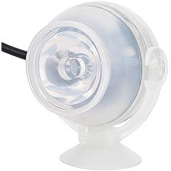 Filfeel LED Aquarium Éclairage Lumière Lumière, mini LED étanche Aquarium colorées plongée sous-marine Aquarium Décor lampe réglable 7Lumières colorées