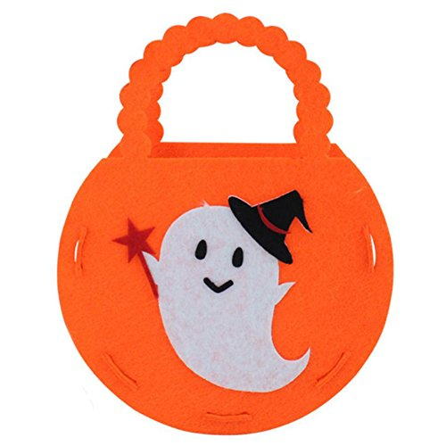Wakerda 1 Stück Halloween Candy Handtasche Kreatives Spielzeug Trick or Treat Tote Bag Halloween Cookie Tragetasche für Kinder Halloween Party Supplies