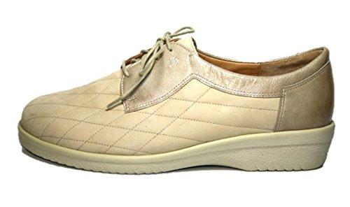 Ganter Ivy-Vario 9-204222 Damen Schuhe Halbschuhe, Weite I Beige (porzelan)