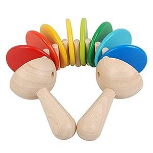 Plan Toys - 6413 - Maracas de Madera Plan Toys