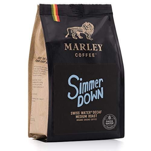 Entkoffeinierter gemahlener Bio-Kaffee, Swiss Schweizer Wasser Entkoffeinierungsverfahren, Marley Coffee, aus der Familie von Bob Marley, 227g