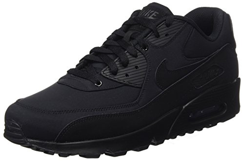 Nike Herren Air Max 90 Essential Low-Top, Schwarz (Black/Black/Black/Black), 44.5 EU (Core Nike Herren)