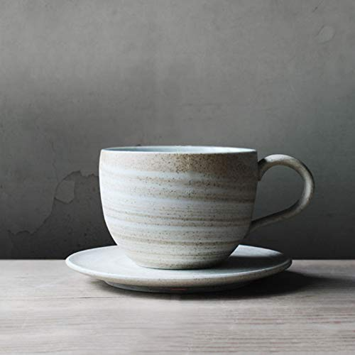 Erjialiu 210ml kaffeetasse mit untertasse kit Keramik Keramik Vintage Milch saft Tasse Hause Drink büro Meister nachmittagstee tassen,Stil A -