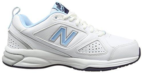 New Balance 624v4, Chaussures de Fitness Femme Blanc (White)