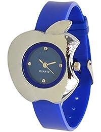 T TOPLINE Cut Apple Type Blue Watch For Girls And Women