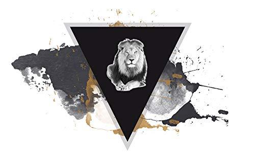 GRAZDesign Bilder Wohnzimmer Löwe, Acrylbilder, Dekoration Wohnung modern Wildlife, Wandbild Abstrakt / 120x80cm