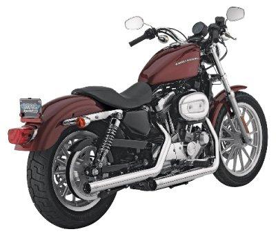 Vance & Hines geradeshots Slip-Ons Chrom Harley Davidson Sportster 04-13 Sportster Slip-ons