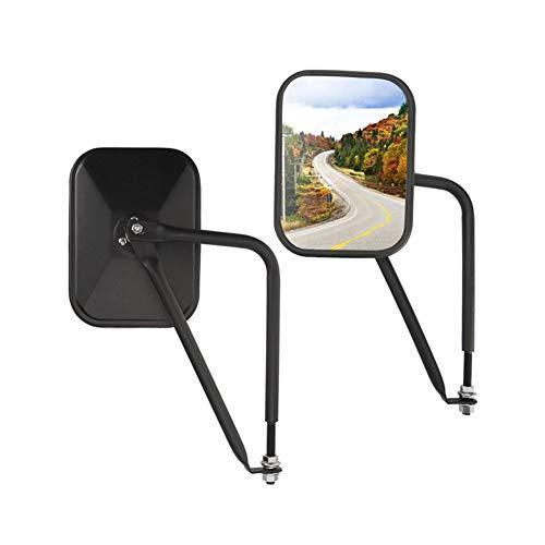 2er-Pack Rechteckige Rückansicht, perfektes Zuhause Seitenansicht Shake-Proof Off Off Mirror Adventure Türscharnierspiegel für Off-Road-Jeep Wrangler JK Autozubehör (Das Perfekte Zuhause)